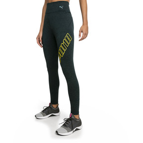 Thumbnail 1 of Yogini Logo 7/8 Women's Training Tights, Ponderosa Pine Heather, medium