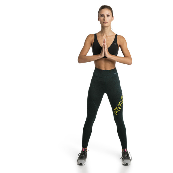 Yogini Logo 7/8 Women's Training Tights, Ponderosa Pine Heather, large