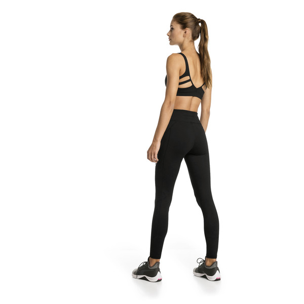 Yogini Logo 7/8 Women's Training Tights, Puma Black, large