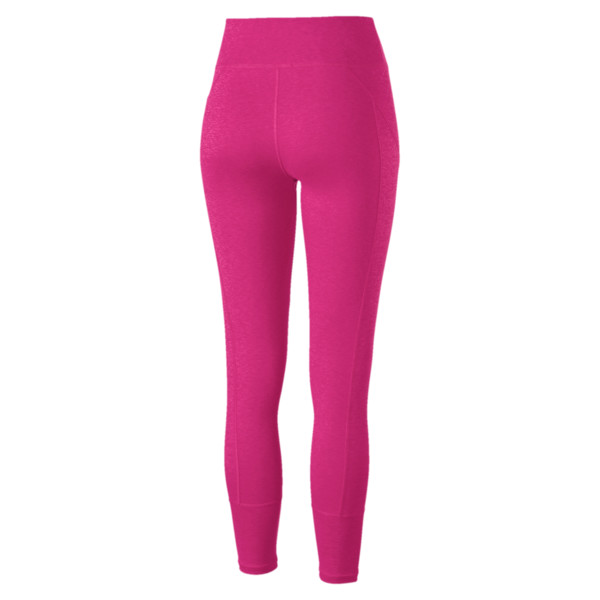 Pantalon de sport 7/8 Yogini Logo pour femme, Fuchsia Purple Heather, large