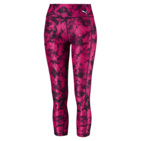 Thumbnail 4 of Stand Out Women's 3/4 Leggings, fuchsia purple-puma black, medium