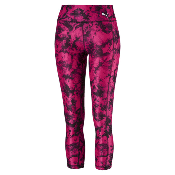 Stand Out Women's 3/4 Leggings, fuchsia purple-puma black, large