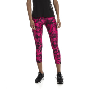Thumbnail 1 of Stand Out Women's 3/4 Leggings, fuchsia purple-puma black, medium