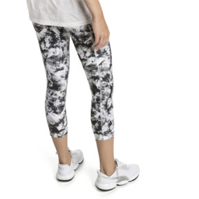 Thumbnail 2 of Stand Out Women's 3/4 Leggings, puma white-puma black, medium