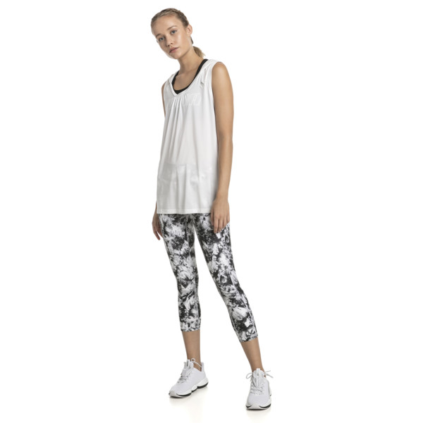 Stand Out Women's 3/4 Leggings, puma white-puma black, large