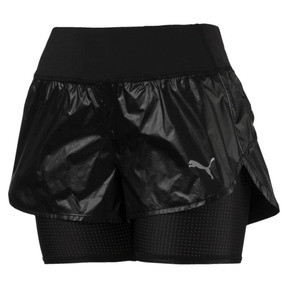 Thumbnail 4 of Short de course Blast tissé 2 en 1 pour femme, Puma Black-metallic, medium
