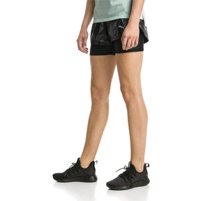 Thumbnail 1 of Blast Woven 2 in 1 Women's Running Shorts, Puma Black-metallic, medium