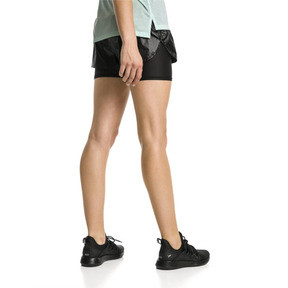 Thumbnail 2 of Short de course Blast tissé 2 en 1 pour femme, Puma Black-metallic, medium
