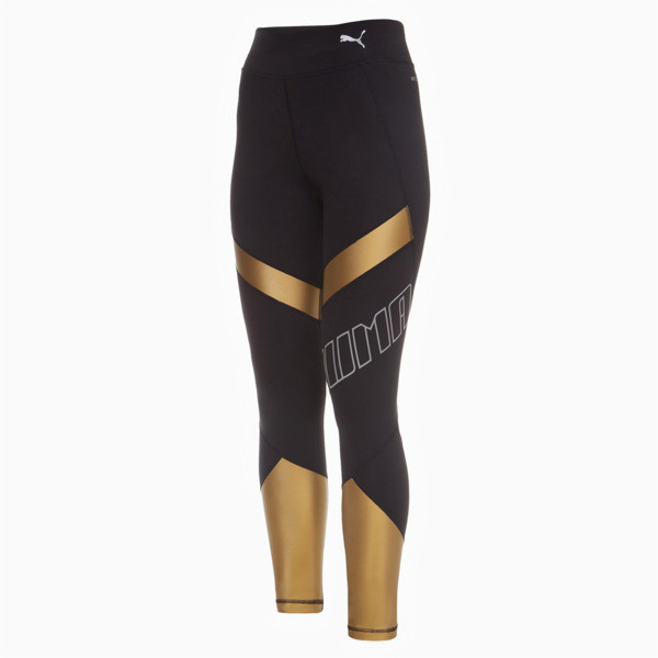 Elite Women's Running Leggings, Puma Black, large