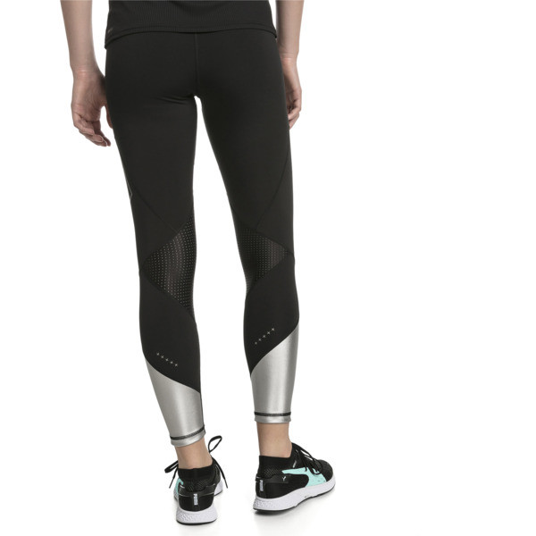 Elite Speed Women's Leggings, Puma Black-Silver, large