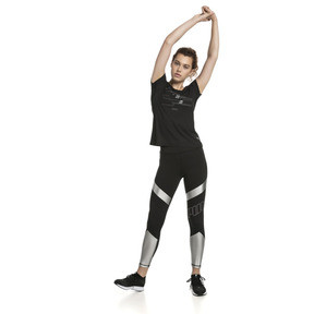 Thumbnail 3 of Elite Speed Women's Leggings, Puma Black-Silver, medium