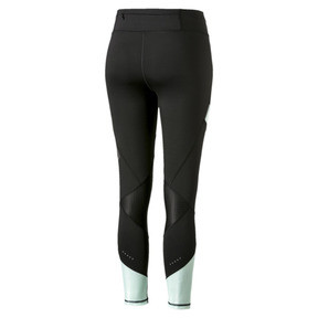 Thumbnail 5 of Elite Women's Running Leggings, Puma Black-Fair Aqua, medium