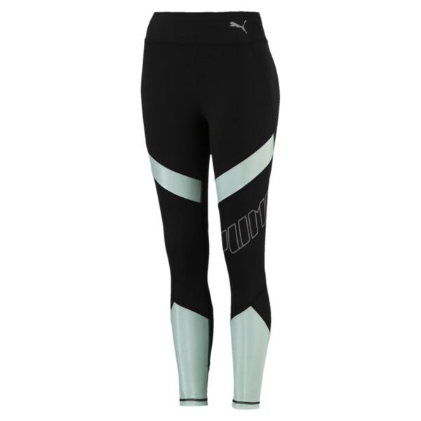Elite Speed Women's Leggings, Puma Black-Fair Aqua, large