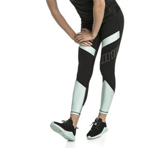 Thumbnail 1 of Elite Women's Running Leggings, Puma Black-Fair Aqua, medium