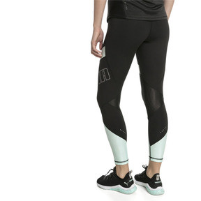 Thumbnail 2 of Elite Women's Running Leggings, Puma Black-Fair Aqua, medium