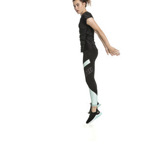 Thumbnail 3 of Elite Women's Running Leggings, Puma Black-Fair Aqua, medium
