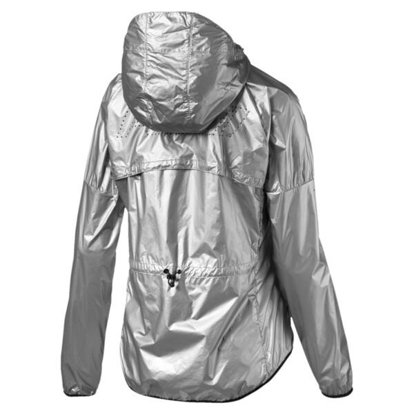Last Lap Metallic Women's Running Jacket, Puma Silver-metallic, large