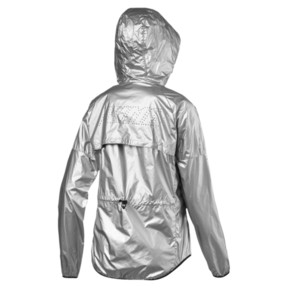 Thumbnail 6 of Last Lap Metallic Women's Running Jacket, Puma Silver-metallic, medium