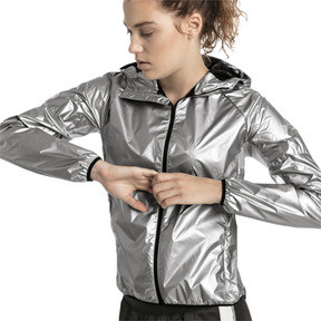 Thumbnail 1 of Last Lap Metallic Women's Running Jacket, Puma Silver-metallic, medium