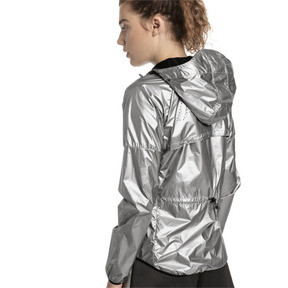Thumbnail 2 of Last Lap Metallic Women's Running Jacket, Puma Silver-metallic, medium