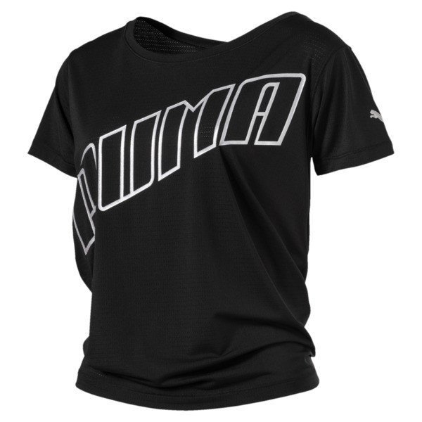 T-shirt Running Ahead pour femme, Puma Black, large