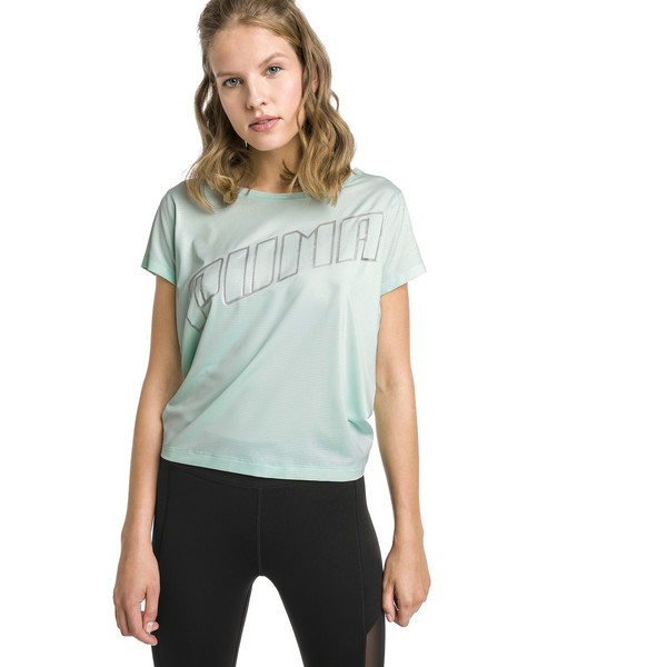 T-shirt Running Ahead pour femme, Fair Aqua, large