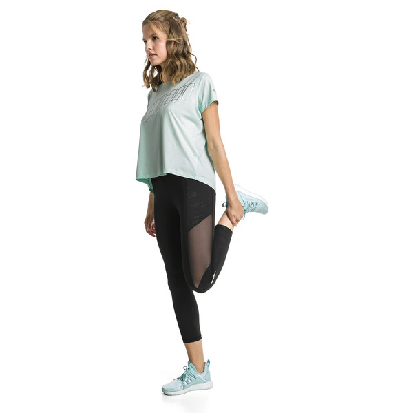 Ahead Women's Running Tee, Fair Aqua, large