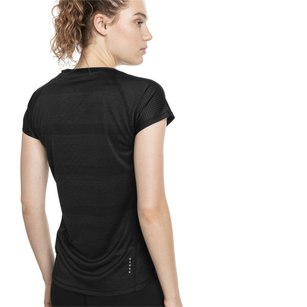 T-shirt Thermo R+ Running pour femme, Puma Black Heather, large