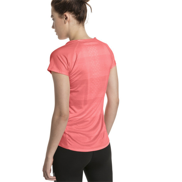 Thermo-R+ Short Sleeve Women's Running Tee, Bright Peach Heather, large