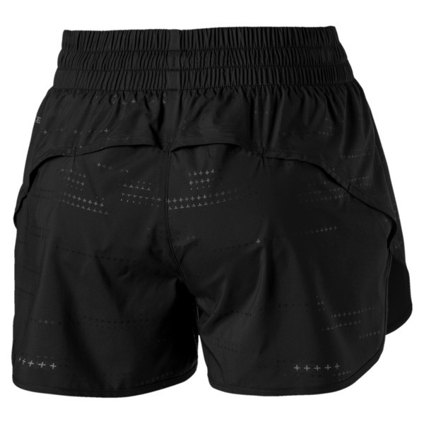 Keep Up Graphic Damen Running Shorts, puma black-Q1 Print, large