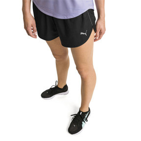 "Thumbnail 1 of Keep Up Graphic 3"" Women's Running Shorts, puma black-Q1 Print, medium"