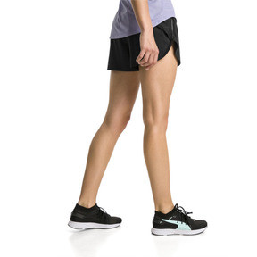 "Thumbnail 2 of Keep Up Graphic 3"" Women's Running Shorts, puma black-Q1 Print, medium"