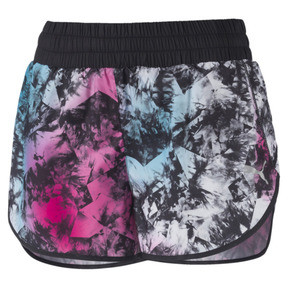 "Thumbnail 1 of Keep Up Graphic 3"" Women's Running Shorts, puma black-multi-Q2 Print, medium"