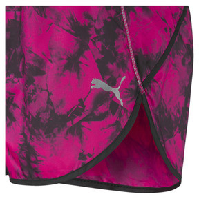 "Thumbnail 3 of Keep Up Graphic 3"" Women's Running Shorts, fuchsia purple-black-Q2Print, medium"