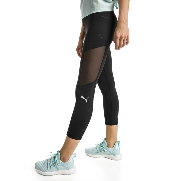 Pantalon de course IGNITE Graphic 3/4 pour femme, Puma Black, large