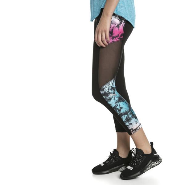 Ignite Women's 3/4 Graphic Leggings, Puma Black-Multi-Q2 Print, large
