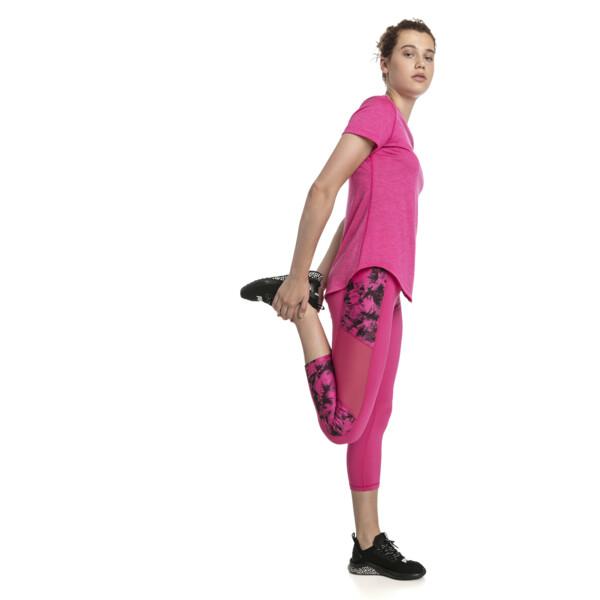 Ignite 3/4 Graphic Women's Tights, fuchsia purple-puma black-Q2, large
