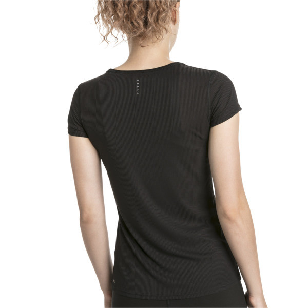 Ignite Short Sleeve Women's Running Tee, Puma Black-Q1, large