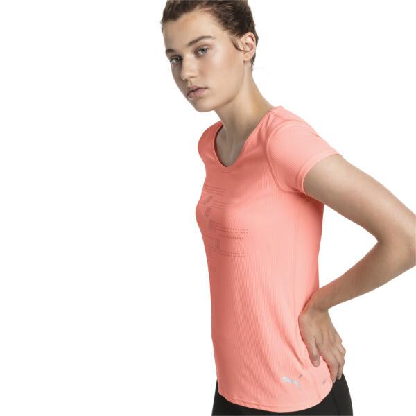 Ignite Short Sleeve Women's Running Tee, Bright Peach, large