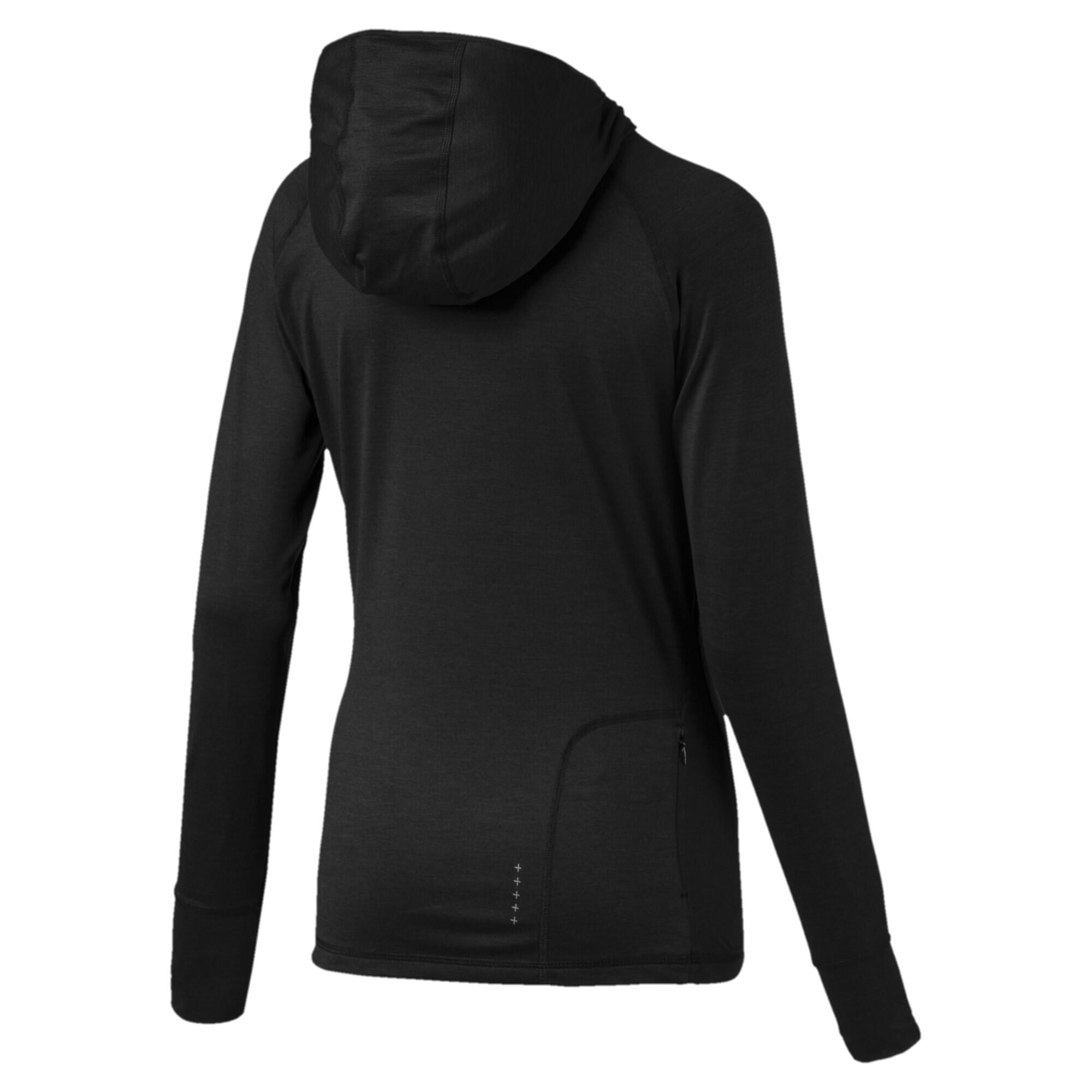 Image Puma Ignite Long Sleeve Hooded Women's Running Tee #5
