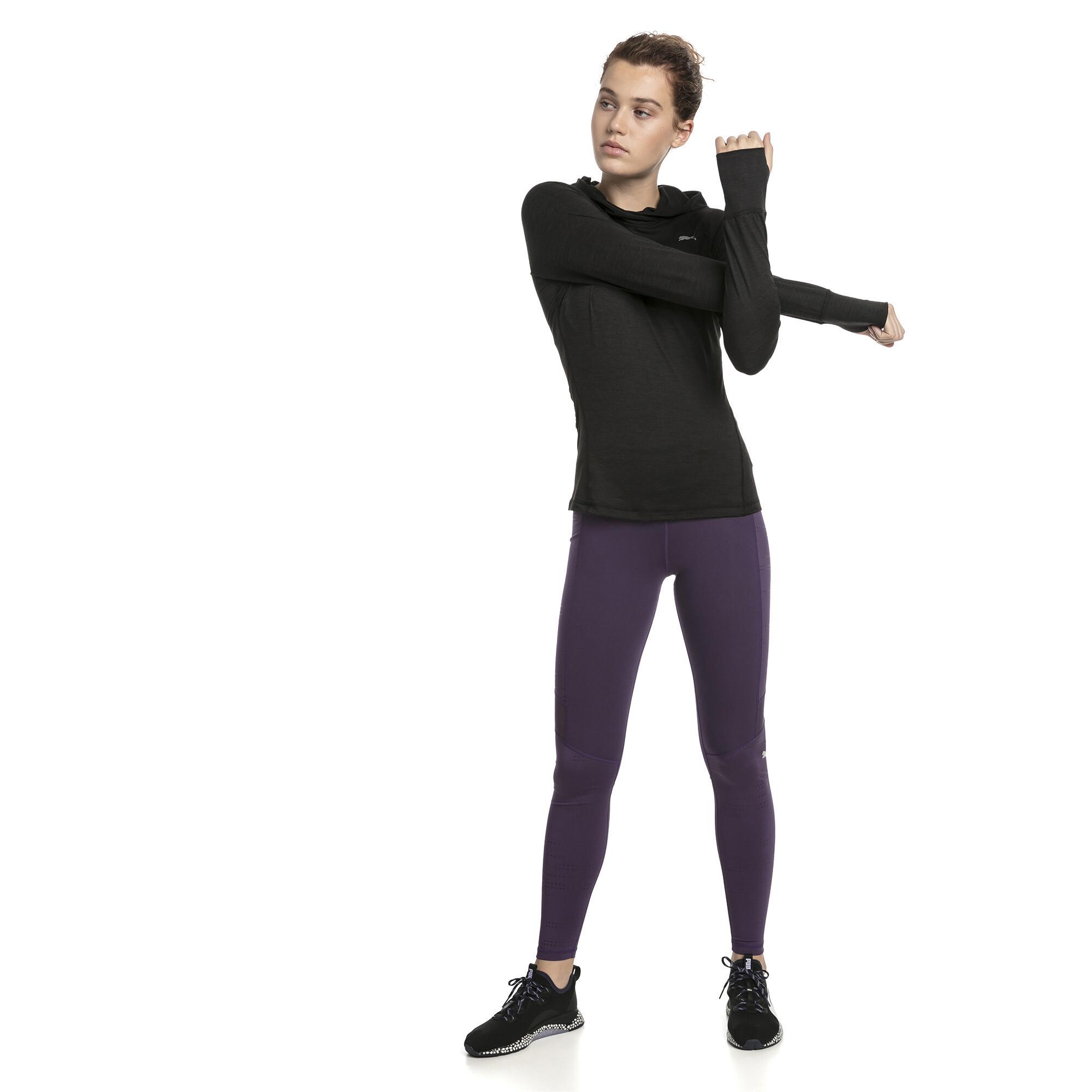 Image Puma Ignite Long Sleeve Hooded Women's Running Tee #3