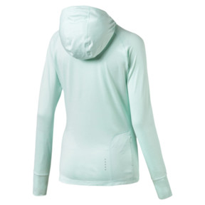 Thumbnail 5 of Ignite Long Sleeve Hooded Women's Running Tee, Fair Aqua Heather, medium