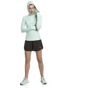 Thumbnail 3 of Ignite Long Sleeve Hooded Women's Running Tee, Fair Aqua Heather, medium