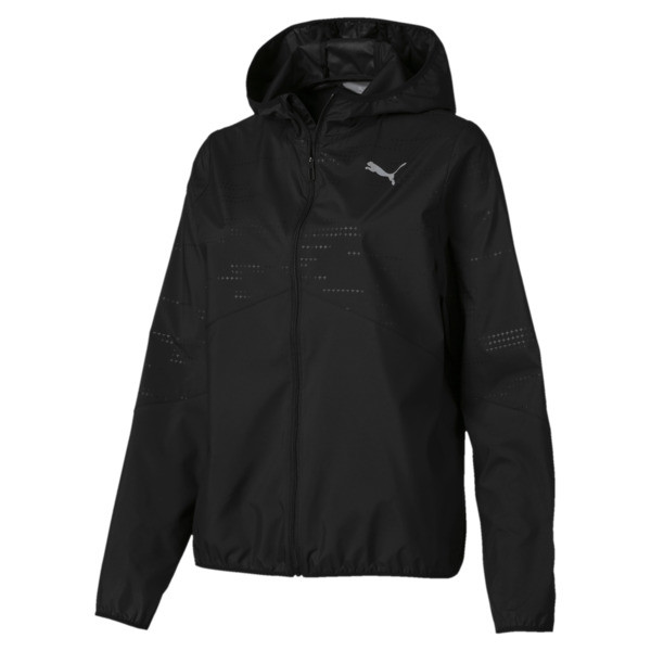 Ignite Woven Hooded Women's Running Track Jacket, Puma Black, large