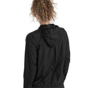 Thumbnail 2 of Ignite Woven Hooded Women's Running Track Jacket, Puma Black, medium