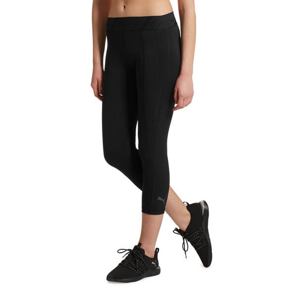 Own It Women's 3/4 Leggings, Puma Black-Q1, large