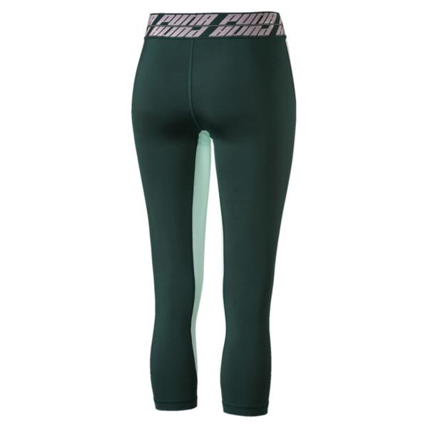 Own It Women's 3/4 Leggings, Ponderosa Pine-Fair Aqua, large