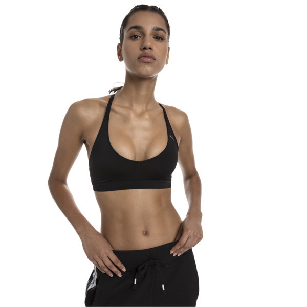 SpotLite Women's Low Impact Sports Bra, Puma Black, large