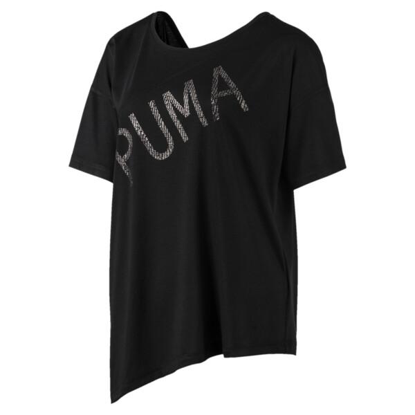 Holiday Drapey Women's Tee, Puma Black, large