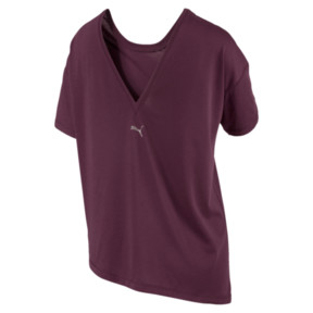 Thumbnail 4 of Holiday Drapey Women's Tee, Fig, medium